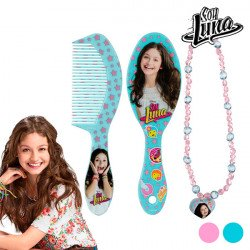"""Soy Luna Beauty Set for Girls """"Brush+Necklace Turquoise"""""""