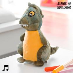 Junior Knows Stoffdinosaurier mit Sprachrekorder und Wiedergabe