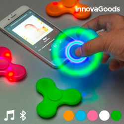 InnovaGoods LED Spinner with Speaker and Bluetooth White