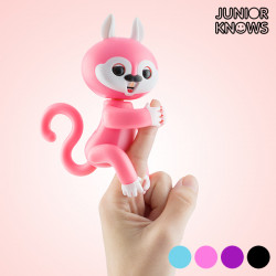 Junior Knows Interactive Squirrel with Sound and Movement Pink