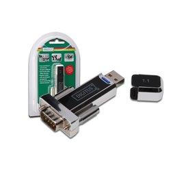 DIGITUS ADATTATORE USB 1.1 A/SERIALE RS232, 9 PIN, M/M 00471