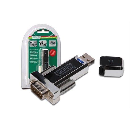 Digitus DA-70155-1 adaptateur et connecteur de câbles USB 1.1 D-SUB Noir 00471