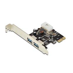 DIGITUS SCHEDA PCI-E 2 PORTE USB3.0 STAFFA LOW PROFILE DS30220