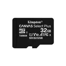 KINGSTON MICRO SDHC 32GB CANVAS SELECT 80R CL10 UHS-I CON ADATTATORE SD