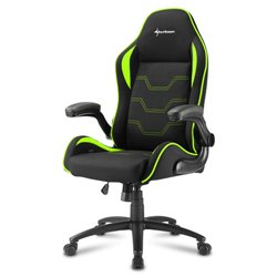 Sharkoon Elbrus 1 Universal gaming chair Padded seat Black,Green ELBRUS 1 BLACK/GREEN