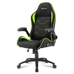Sharkoon Elbrus 1 Cadeira de jogos universal Assento acolchoado Preto, Verde ELBRUS 1 BLACK/GREEN