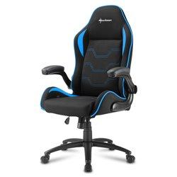 Sharkoon Elbrus 1 Cadeira de jogos universal Assento acolchoado Preto, Azul ELBRUS 1 BLACK/BLUE
