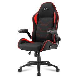 Sharkoon Elbrus 1 Cadeira de jogos universal Assento acolchoado Preto, Vermelho ELBRUS 1 BLACK/RED