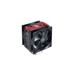 COOLER MASTER DISSIPATORE CPU, HYPER 212 LED TURBO RED COVER, 2X120MM 600-1600RPM PWM FAN WITH RED LED, 4X6MM DIRECT CONTACT HEA