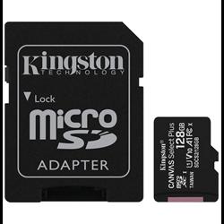KINGSTON MICRO SDHC CANVAS SELECT 80R CL10 UHS-I CON ADATTAT