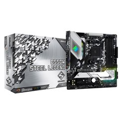 ASROCK MB AMD B550 STEEL LEGEND AM4 4DDR4, 1M2, 6SATA3 ATX