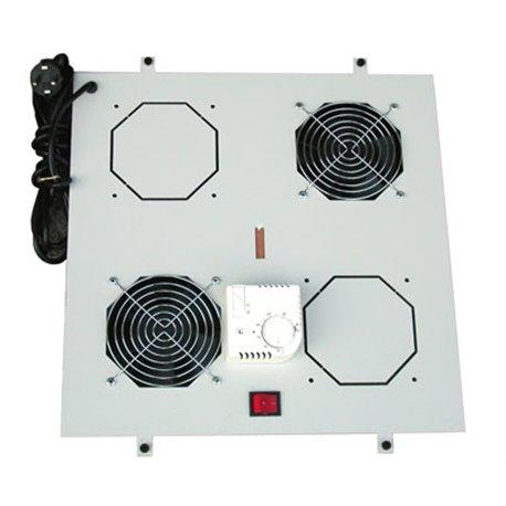 Digitus Dachlüftereinheit für Unique Netzwerk & Dynamic 2 Lüfter, Thermostat, Schalter, grau (RAL 7035) ARM055
