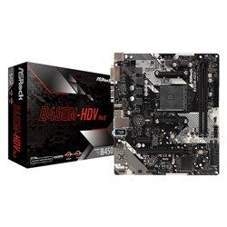 ASROCK MB AMD B450M-HDV R4.0 2DDR4 PCI-E X16 M2 DVI/HDMI MATX