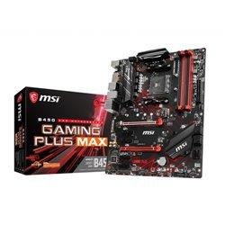 MSI MB AMD B450 GAMING PLUS MAX ATX AM4 4DDR4 PCI-EX/16 M.2 6SATA3 2USB3.0 DVI HDMI