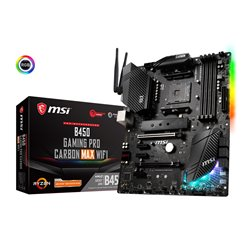 MSI MB AMD B450 GAMING PRO CARBON MAX WIFI AM4 4DDR4 2PCI-Ex16, 3PCI-Ex1, 2M.2M 6SATA3