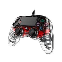 NACON COMPACT CONTROLLER LUMINOSO CON CAVO PER PLAYSTATION 4 RED (PC COMPATIBILE)