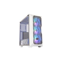 COOLER MASTER CASE TD500 MESH WHITE ARGB MID TOWER, SIDE PANEL, MICROATX-MINI ITX, 2XUSB 3.2, 2XUSB 2.0, 1X3.5MM AUDIO JACK, 1X3