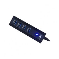 Adj 143-00012 hub de interface USB 3.0 (3.1 Gen 1) Type-A 5000 Mbit/s Preto