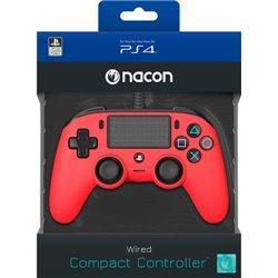 NACON COMPACT CONTROLLER CON CAVO PER PLAYSTATION 4 RED (PC COMPATIBILE)