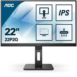 AOC MONITOR 21,5 LED IPS FHD 16:9 250 CD/M 4MS PIVOT VGA/DVI/HDMI , MULTIMEDIALE