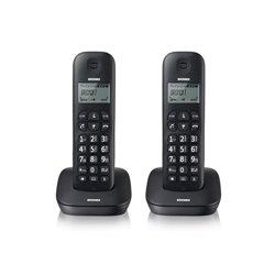 BRONDI TELEFONO CORDLESS GALA TWIN NERO RUBRICA ID CHIAMATE SVEGLIA 7H AUTONOMIA