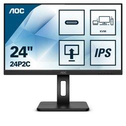 AOC MONITOR 23,8 16:9 IPS FHD 4MS 250 CD/M PIVOT, VGA/DP/HDMI MULTIMEDIALE