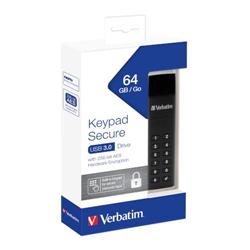 VERBATIM USB KEY 64GB WITH SECURE KEYPAD