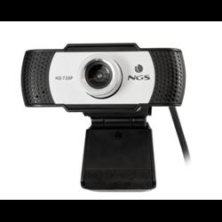 NGS WEBCAM HD 1280X720P, USB 2.0, MICROFONO INCORPORATO, MESSA A FUOCO MANUALE