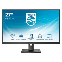 PHILIPS MONITOR 27 LED IPS 2560 x 1440 16:9 350 CD/M, USB-C PIVOT, DP/HDMI, MULTIMEDIALE