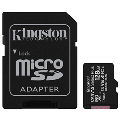 KINGSTON MICRO SDHC CANVAS SELECT 80R CL10 UHS-I CON ADATTAT