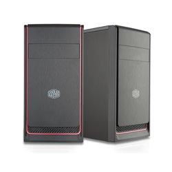 """COOLER MASTER CASE MASTERBOX E300L RED MINI TOWER MICROATX-MINI ITX, USB3X2, AUDIO IO, 1X 5,25"""", 2X HDD 3.5"""", 3X 2,5"""" SSD, 120MM"""