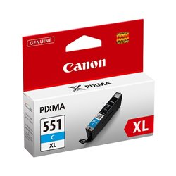 CANON CART INK CIANO ALTA CAPACITA PER PIXMA IP7250 MG5450 MG6350 CLI-551XL C