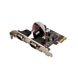 Digitus Seriell I/O,2-port, PCIexpress Add-On card 2 X DB9 M , Slot Blech + LP Blech MCS9901 Chipsatz DS30000