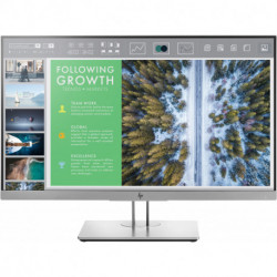 HP EliteDisplay E243 LED display 60,5 cm (23.8) Full HD Preto, Prateado 1FH47AT
