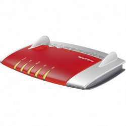 AVM FRITZ!Box 3490 International router sem fios Dual-band (2,4 GHz / 5 GHz) Gigabit Ethernet Vermelho, Prateado 20002709