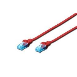 Digitus 1m Cat5e U/UTP câble de réseau U/UTP (UTP) Rouge DK1512010R