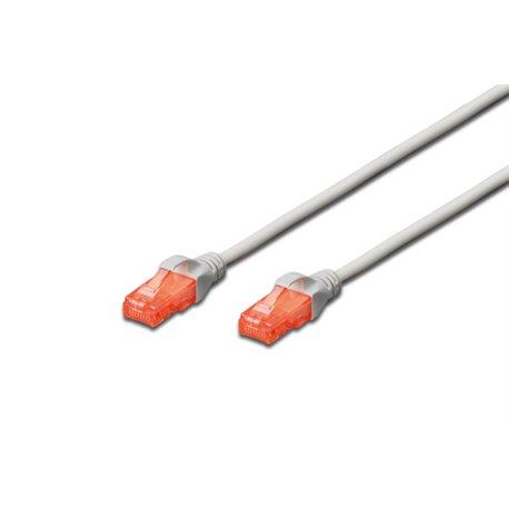Digitus CAT6 U/UTP 1m câble de réseau U/UTP (UTP) Gris DK1612010
