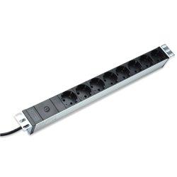 Digitus DN-95410 multiprise 2 m 8 sortie(s) CA Noir DN95410