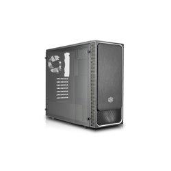"COOLER MASTER CASE MASTERBOX E500L MID TOWER ATX, RED W/ FULL WINDOW USB3X2,IO, 1X 5,25"",2X 2.5"",2X 3.5"",120MM LED FR. FAN+120MM"