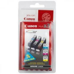 Canon CLI-521 C/M/Y Original Cyan, Magenta, Jaune 3 pièce(s) 2934B010
