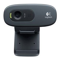LOGITECH WEBCAM HD C270 USB 3MPX 1280X720 FLUID CRYSTAL MICROFONO INCORPORATO CLIP FISSAGGIO RILEVAMENTO AUTOMATIVO VOLTO E MOVI