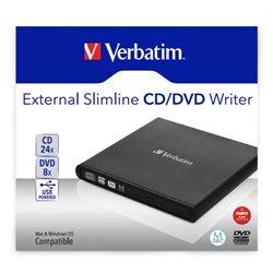 VERBATIM MASTERIZZATORE ESTERNO DVD USB2.0 NERO + SOFTWARE