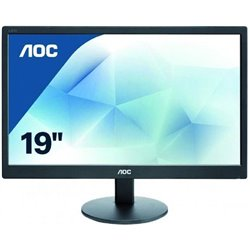 "AOC MONITOR 18,5"", LED TN, 16:9, 1366X768, 200 CD/M, 5MS, 110X75, D-SUB"