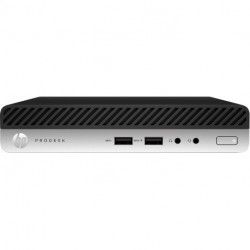 HP ProDesk 405 G4 AMD Ryzen 5 2400GE 8 GB DDR4-SDRAM 256 GB SSD Schwarz, Silber Mini PC Mini-PC 6QS01EA