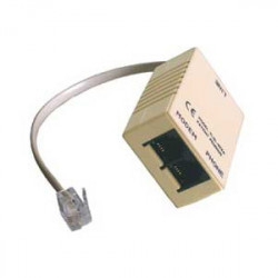 Digicom 8E4141 Kabelschnittstellen-/adapter RJ-11 M 2 x RJ11 FM Beige, Grau