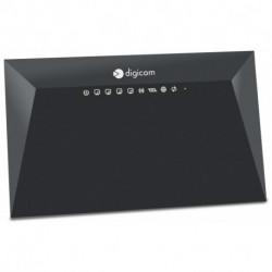 Digicom RVW300-K01 WLAN-Router Einzelband (2,4GHz) Schnelles Ethernet Schwarz 8E4593