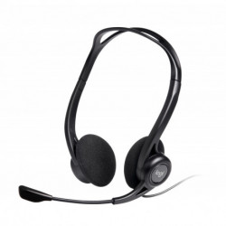 Logitech 960 USB conjunto de auscultadores e microfone Fita de cabeça Binaural Preto 981-000100