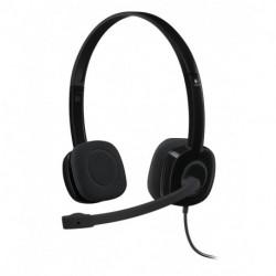 Logitech H151 Headset Kopfband Binaural Schwarz 981-000589