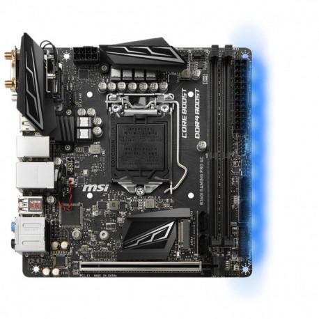 MSI B360I GAMING PRO AC Motherboard LGA 1151 (Socket H4) Mini ITX Intel® B360