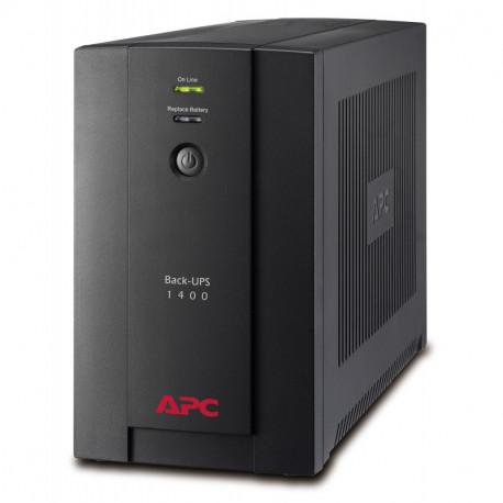 APC Back-UPS alimentation d'énergie non interruptible Interactivité de ligne 1400 VA 700 W BX1400U-GR